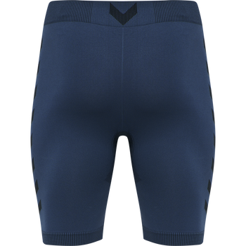 hmlFIRST SEAMLESS TRAINING SHORT TIGHTS, DARK DENIM, packshot