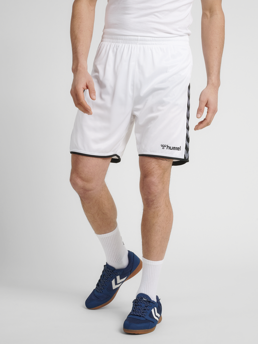 hmlAUTHENTIC POLY SHORTS, WHITE, model