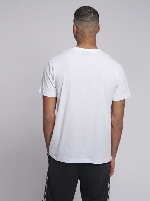 hmlSPLASH T-SHIRT S/S, WHITE, model