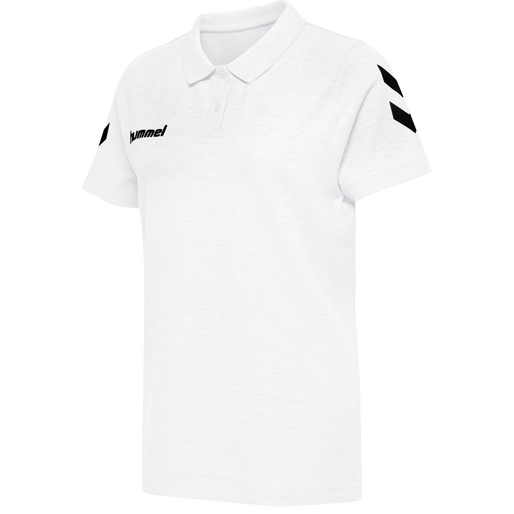 HUMMEL GO COTTON POLO WOMAN, WHITE, packshot