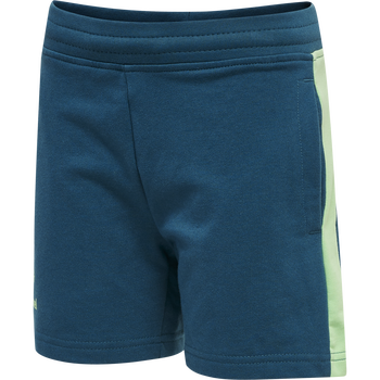 hmlACTION COTTON SHORTS KIDS, BLUE CORAL/GREEN ASH, packshot