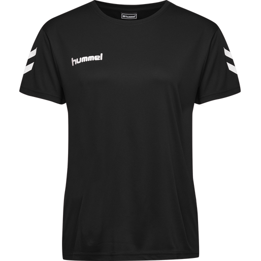 CORE POLY TEE WOMAN , BLACK, packshot