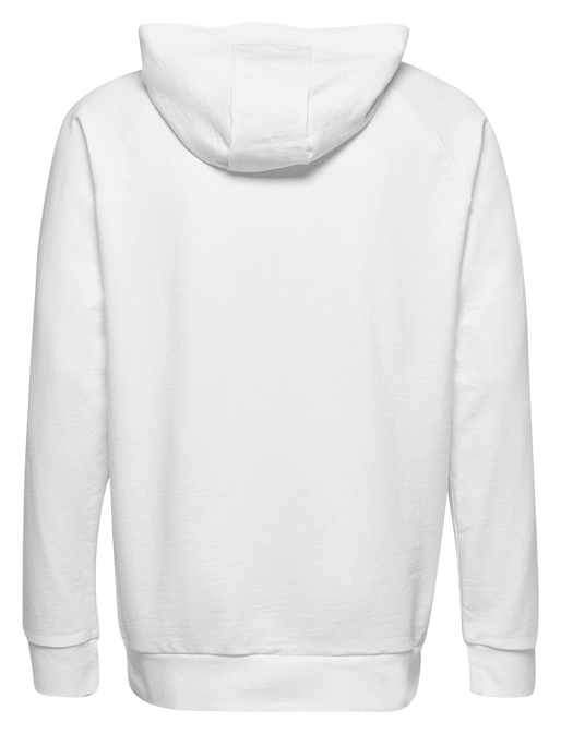 HUMMEL GO KIDS COTTON LOGO HOODIE, WHITE, packshot