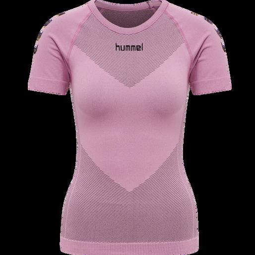 HUMMEL FIRST SEAMLESS JERSEY S/S WOMAN, COTTON CANDY, packshot