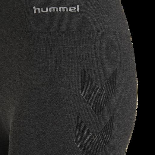 hmlCI SEAMLESS CYCLING SHORTS, BLACK MELANGE, packshot