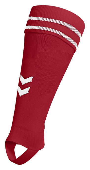 ELEMENT FOOTBALL SOCK FOOTLESS, TRUE RED/WHITE, packshot