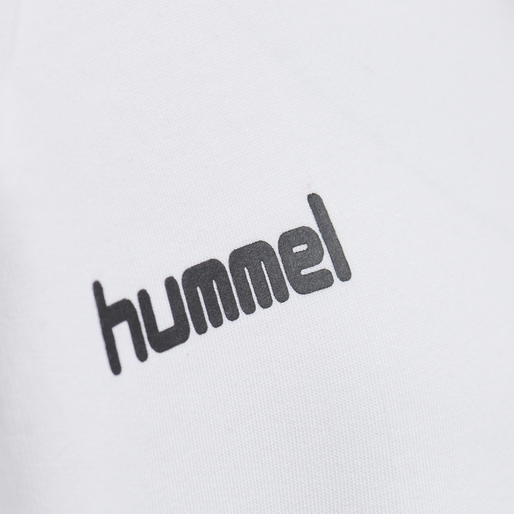 HUMMEL GO KIDS COTTON HOODIE, WHITE, packshot