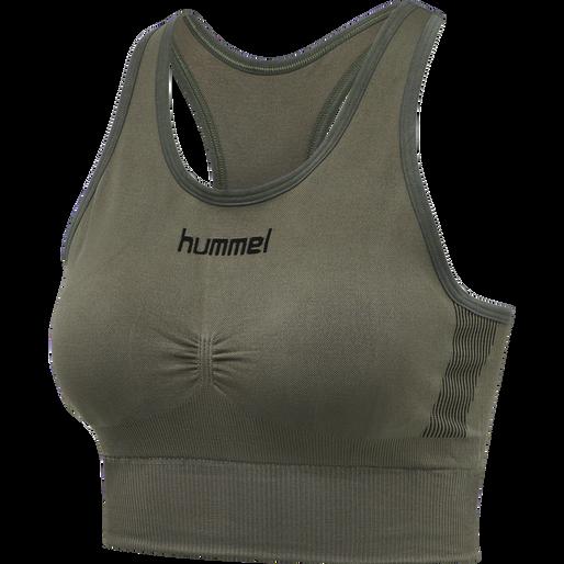 HUMMEL FIRST SEAMLESS BRA WOMEN, GRAPE LEAF, packshot