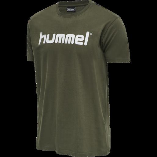 HUMMEL GO COTTON LOGO T-SHIRT S/S, GRAPE LEAF, packshot