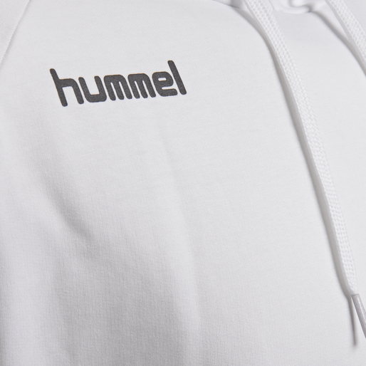 HUMMEL GO COTTON HOODIE, WHITE, packshot