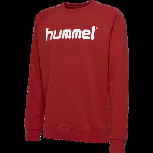 HUMMEL GO COTTON LOGO SWEATSHIRT, TRUE RED, packshot