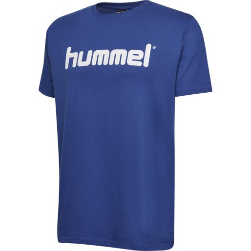 HUMMEL GO COTTON LOGO T-SHIRT S/S, TRUE BLUE, packshot