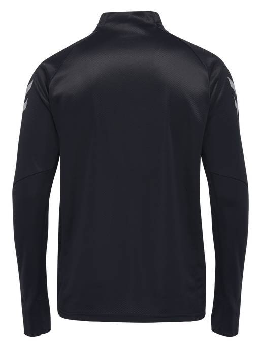 TECH MOVE KIDS HALF ZIP SWEATSHIRT, BLACK, packshot