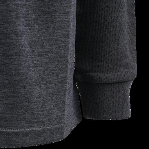 hmlDYLAN T-SHIRT L/S, GRAPHITE/BLACK, packshot