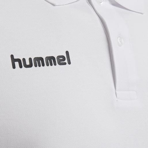 HUMMEL GO COTTON POLO, WHITE, packshot
