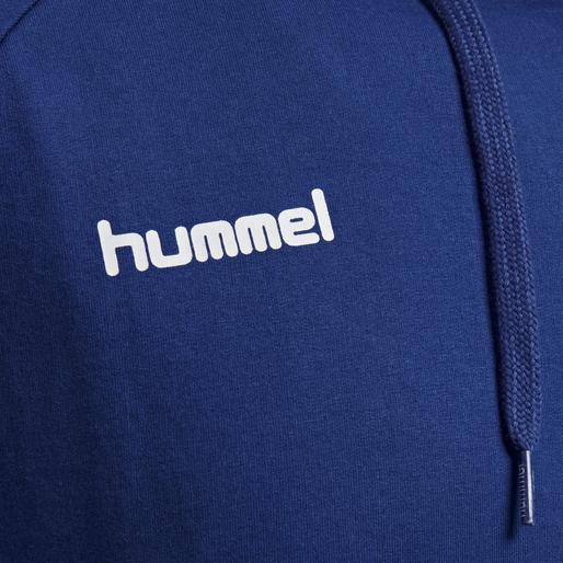HUMMEL GO COTTON HOODIE, TRUE BLUE, packshot