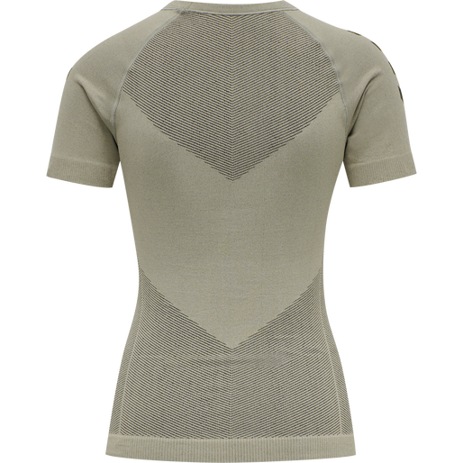 HUMMEL FIRST SEAMLESS JERSEY S/S WOMAN, LONDON FOG, packshot