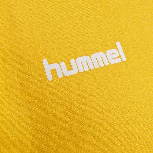 HUMMEL GO COTTON SWEATSHIRT, SPORTS YELLOW, packshot
