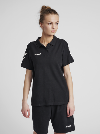 HUMMEL GO COTTON POLO WOMAN, BLACK, model