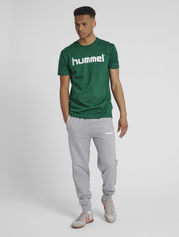 HUMMEL GO COTTON PANT, GREY MELANGE, model