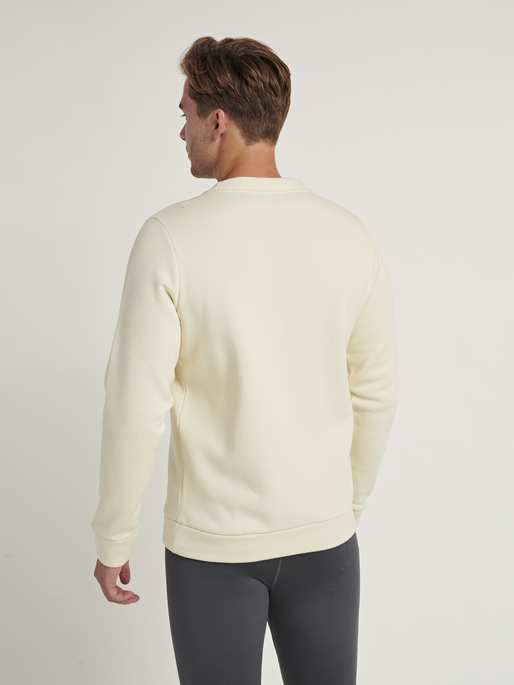hmlFALCON SWEATSHIRT, BONE WHITE, model