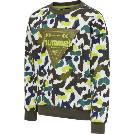 hmlTOKYO SWEATSHIRT, LIME PUNCH, packshot
