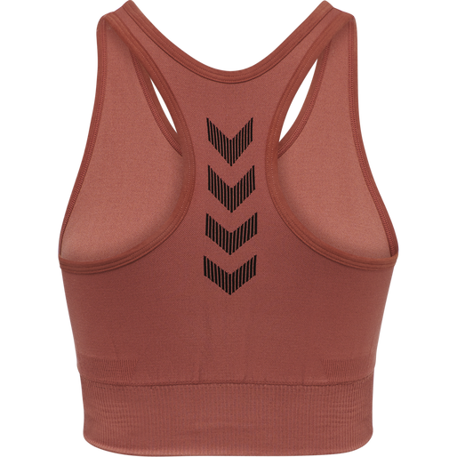 HUMMEL FIRST SEAMLESS BRA WOMEN, MARSALA, packshot
