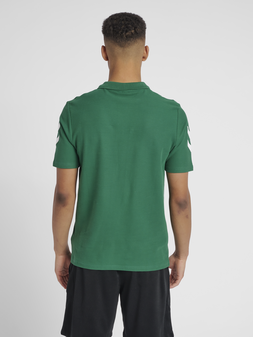 HUMMEL GO COTTON POLO, EVERGREEN, model