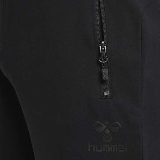 hmlLAURI REGULAR PANTS, BLACK, packshot