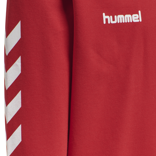 HUMMEL GO KIDS COTTON HOODIE, TRUE RED, packshot