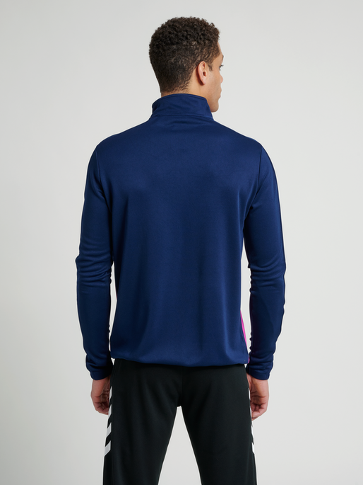 CORE 1/2 ZIP SWEAT, MARINE/ROSE VIOLET, model
