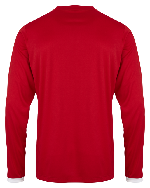 CORE LS POLY JERSEY, TRUE RED PR, packshot