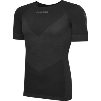 HUMMEL FIRST SEAMLESS JERSEY S/S , BLACK, packshot