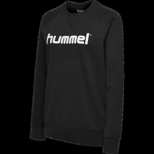 HUMMEL GO COTTON LOGO SWEATSHIRT WOMAN, BLACK, packshot
