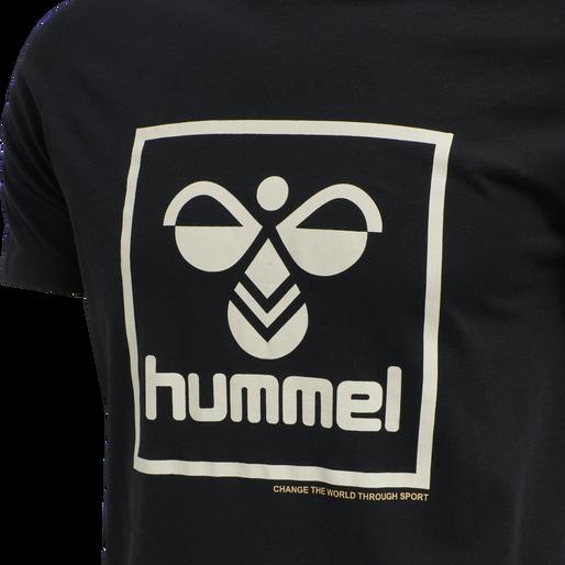 hmlISAM T-SHIRT, BLACK, packshot