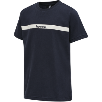 hmlLAN T-SHIRT S/S, BLUE NIGHTS, packshot