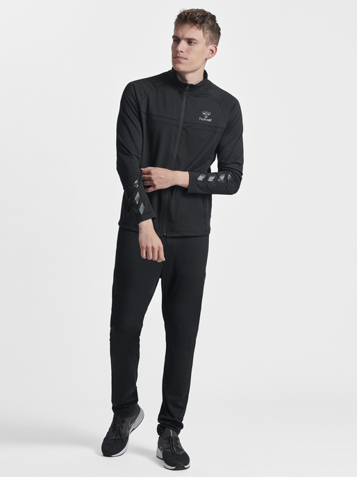 HMLJAMES ZIP JACKET, BLACK, model
