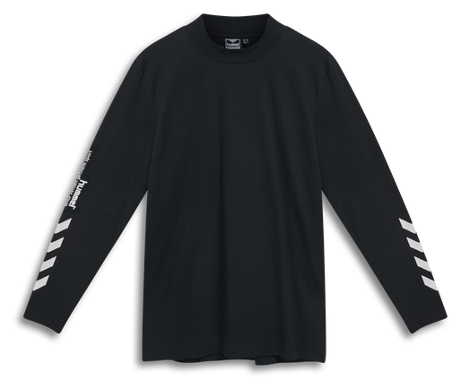 hmlSUBURB T-SHIRT L/S, BLACK, packshot