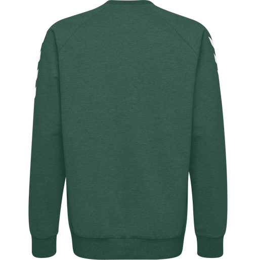 HUMMEL GO COTTON SWEATSHIRT, EVERGREEN, packshot