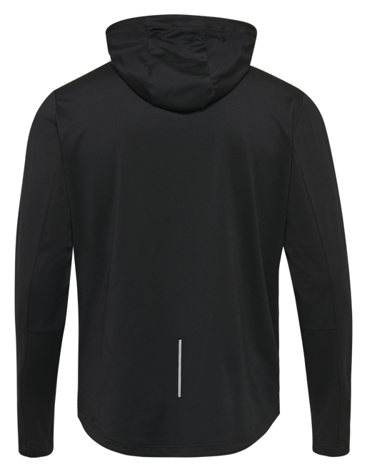 hmlASTON ZIP HOODIE, BLACK, packshot