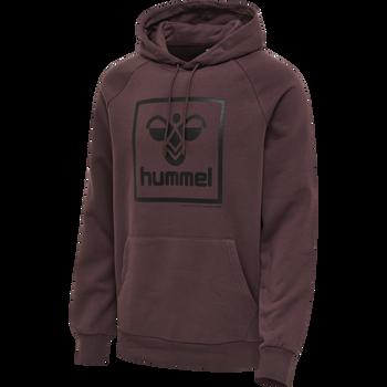 hmlISAM HOODIE, FUDGE/BLACK, packshot