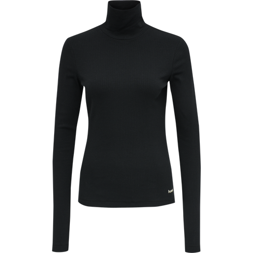 hmlBELL TURTLE NECK L/S, BLACK, packshot