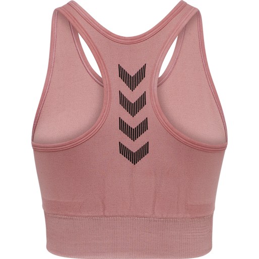 HUMMEL FIRST SEAMLESS BRA WOMEN, DUSTY ROSE, packshot