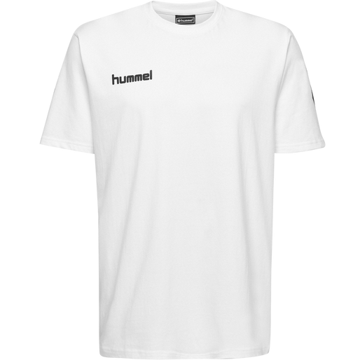 HUMMEL GO COTTON T-SHIRT S/S, WHITE, packshot