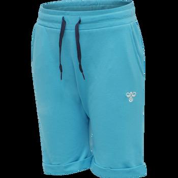hmlFLICKER SHORTS, SCUBA BLUE, packshot