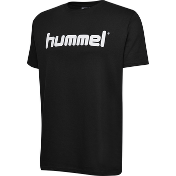 HUMMEL GO KIDS COTTON LOGO T-SHIRT S/S, BLACK, packshot