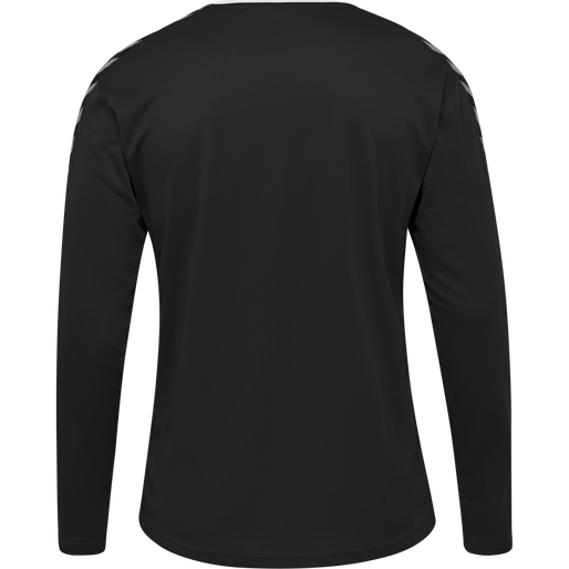 hmlAUTHENTIC POLY JERSEY L/S, BLACK/WHITE, packshot