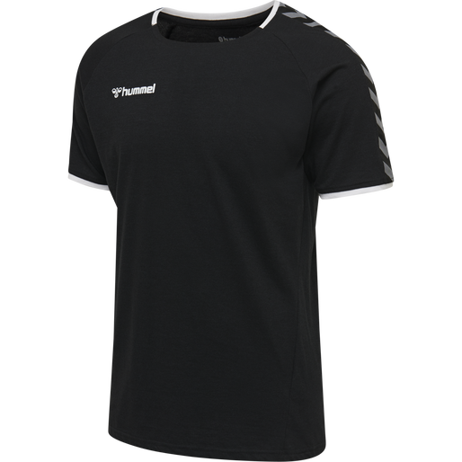 hmlAUTHENTIC TRAINING TEE, BLACK/WHITE, packshot