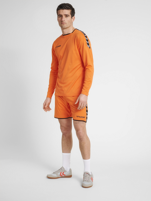 hmlAUTHENTIC POLY JERSEY L/S, TANGERINE, model