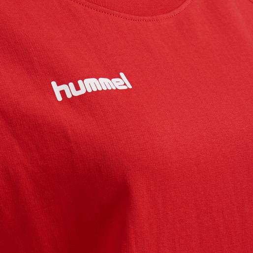 HUMMEL GO COTTON SWEATSHIRT WOMAN, TRUE RED, packshot
